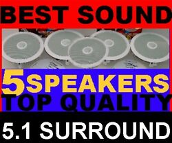 5-pack Top-of-the-line 5.1 8 Home Theater Ceiling Speakers - System 5x