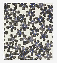 Donald Sultan And039wall Flowers Black And Blueand039 Signed Ltd. Edition Silkscreen Print