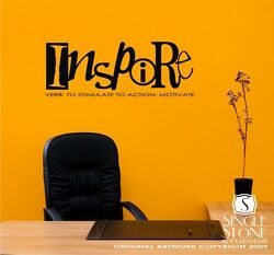 Wall Decals Inspire Definition Vinyl Text Stickers Art Graphics