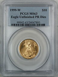 1999-w 10 American Gold Eagle, Pcgs Ms-63 Emergency Issue Better Coin