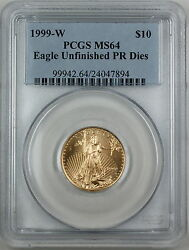 1999-w 10 American Gold Eagle Pcgs Ms-64 Emergency Issue