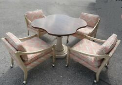 Mid Century Tomlinson Breakfast Dining Table And 4 Chairs Set
