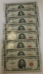 8 1963 5 United States Note- Gem, Crisp, Uncirculated Consecutive Notes A18
