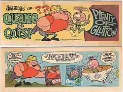 Adventures Of Quisp And Quake Mini Comic Cereal Promo Giveaway Plenty Of Glutton