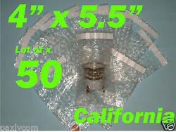 50 4x5.5 Bubble Out Pouches Bags Wrap Self Seal Self Sealing 4x5.5 Protective