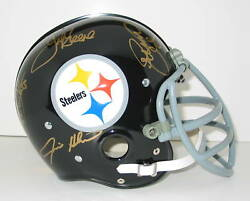 Steel Curtain Signed Full Size Helmet Green Holmes White Lc Greenwood Auto Jsa