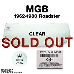 Mgb, Mgc Roadster 1962-80 Clear Windshield Glass New - Pickup Only