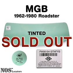 Mgb Mgc Roadster 1962-80 Tinted Windshield Glass New - Pickup Only