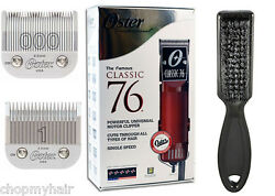 Oster Classic 76 Red Hair Clipper + 000 And 1 Detachable Blades 76076-010 Nib