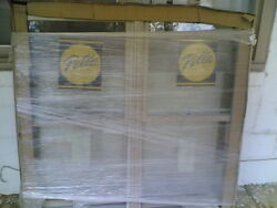 New Nice Home Wood Double Double-hung Window W/ Tempered Glass And Cladding 50x47
