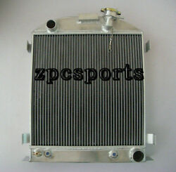 1935-1936 Aluminum Radiator Chopped-chevy-engine Ford-grill-shells 3 Row 35-36
