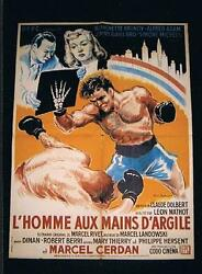 Extremely Rare 1949 World Champion Marcel Cerdan French Movie Boxing Poster