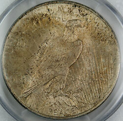 1922 Peace Silver Dollar Coin, Pcgs Ms-64 Toned Vintage Toning