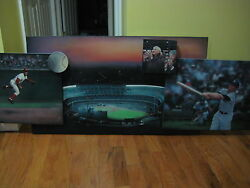 1961 baseball painting World Series Yankees and Reds Mantle 5 paintings in 1!