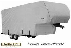 Goldline Premium Rv Trailer 5th Wheel Cover Fits 36 To 38 Foot Color Grey