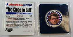 2000 American Silver Eagle Colorized With Al Gore In Honor Of The 2000 Election