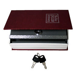 Dictionary Hollow Book Safe Diversion Secret Stash Booksafe Lock And Key Small Red