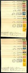 658-679 KANSNEBR PAIRS ON RARE SET OF FIRST DAY COVERS