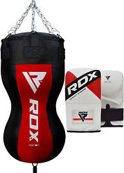 Rdx Heavy Filled Punch Bag Angle Body Boxing Upper Cut Gloves Mma Muay Thai