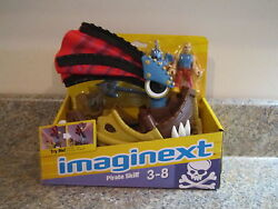 Fisher Price Imaginext Castle New Pirate Skiff Boat Sail Ship Mask Weapon Disk