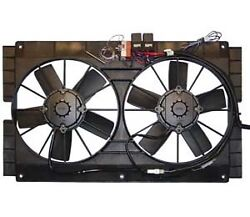 Fan And Shroud W/ Wire Harness, Relay And Adj Thermostat 12 Volt [17-1523sa]