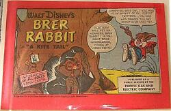 Brer Rabbit Disney Kite Fun Book 1953 Tail Pacific Gas And Electric Giveaway Promo