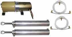 1969-1970 Mercury Cougar And Xr-7 Convertible Top Pump Motor Cylinders And Hose Set