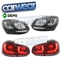 VW GOLF 6 VI 09- OEM STYLE (R DESIGNS) HEAD LIGHTS LED DRL & LED TAIL LIGHT KIT