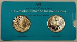 Heinrich Heine And Leopold Zunz 1oz Silver Medal- History Of The Jewish People-30