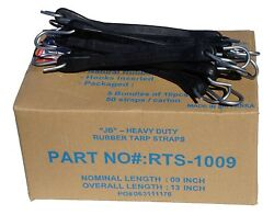200 9 Hd Rubber Tarp Straps F Flatbed Truck Trailer Bungee Tie Down Tire Chains