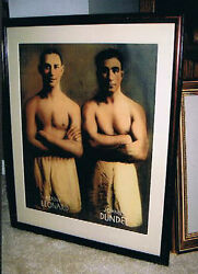 Rare 1920and039s Jewish Champ Benny Leonard Johnny Dundee Large Format Photo Poster