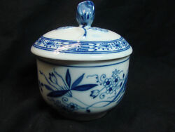 Rare Vintage Blue Hutschenreuther Selb Lhs Germany Sugar Bowl With Lid
