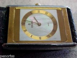 Spectacular 18k Gold And Stainless Steel Concord Watch Thinest Model Make Offer