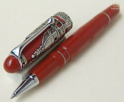 AURORA SPECIAL EDITION FIRENZE STERLING SILVER ROLLER BALL PEN BEAUTIFUL DESIGN!
