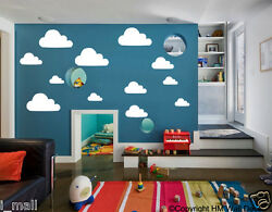 CLOUDS removable wall stickers for kids or nursery room clouds 1