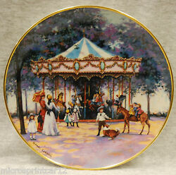 Carousel Memories 1992 Franklin Mint Collectible Plate By Sandi Lebron