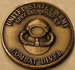 Combat Diver 1st Battalion 1st Special Forces Group Airborne Army Challenge Coin