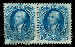 Momen Us Stamps 101 Used Pair F/vf Pf Cert