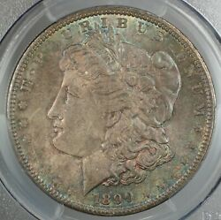 1890 Morgan Silver Dollar Pcgs Ms-63 Toned Better Coin Gbr