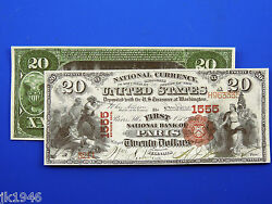 Reproduction 20 1875 National Bank Note Us Paper Money Currency Copy
