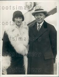 1929 National Cash Register Co President F B Patterson And Wife Press Photo