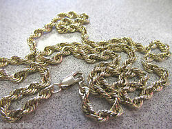 21 In Solid 14k Gold 4 Mm Rope Chain Necklace 24.6 Grams Solid 14k Make Offer