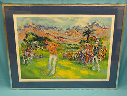 Rare 70and039s Signed Mark King Golf Serigraph Litho No. 119/325