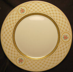 A. Raynaud And Co. Chambord Dinner Plate White With Detailed Gold Incrustation