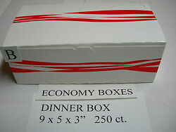 Economy Dinner Chicken Take Out Box 250ct Use W/ Broaster Henny Penny Fryer