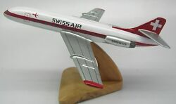 Sud Caravelle Se-210 Swiss Air Airplane Desktop Wood Model Small Free Shipping