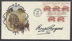 Roy Rogers, Western Actor, King Of Cowboys, Signed Stagecoach 1890s Fdc