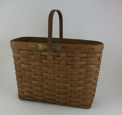 Longaberger 1981 J W Limited Edition Original Bread And Milk Basket Extremely Rare