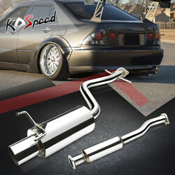 4 Tip Stainless Muffler Racing Catback Exhaust For 01-05 Lexus Altezza Is300