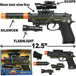 gun silencer play set toy swat assault